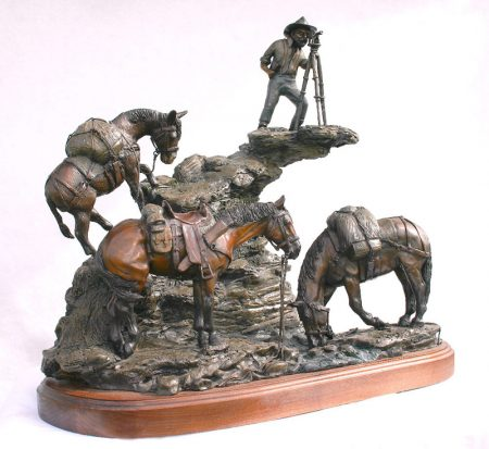 Commissioned bronze by Diane M Anderson