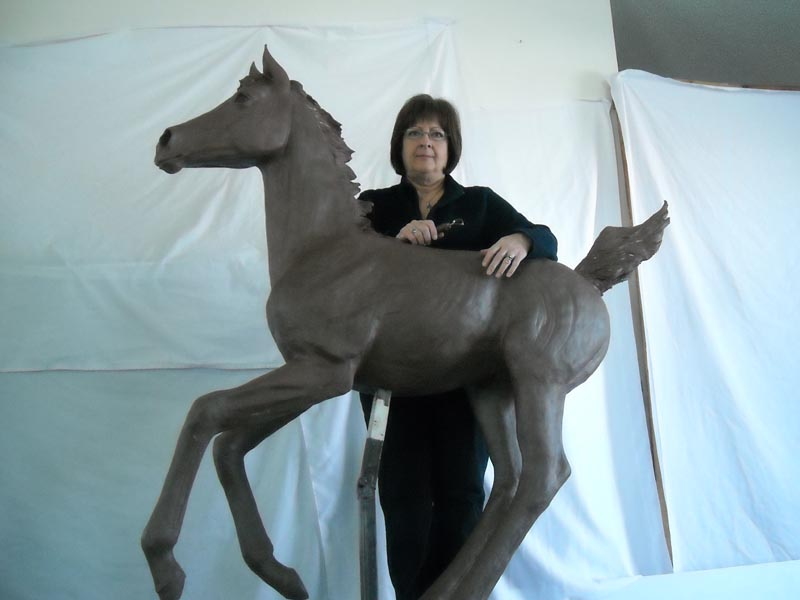 Bronze in progress by Diane M Anderson
